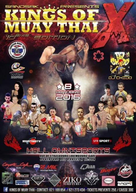 Kings Of Muay Thai 10 fight card, muay thai news 2016