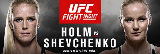 UFC ON FOX 20: HOLM vs SHEVCHENKO Live Stream