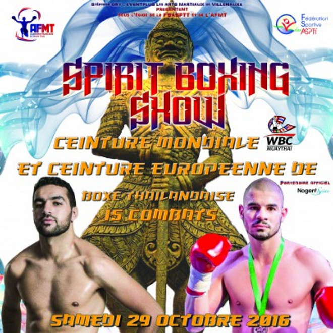 muay thai news 2016, Spirit Boxing Show fight card