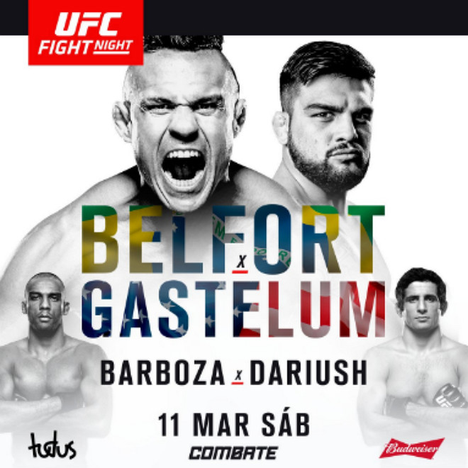 UFC Fight Night 106: Belfort vs Gastelum fight card, новости мма