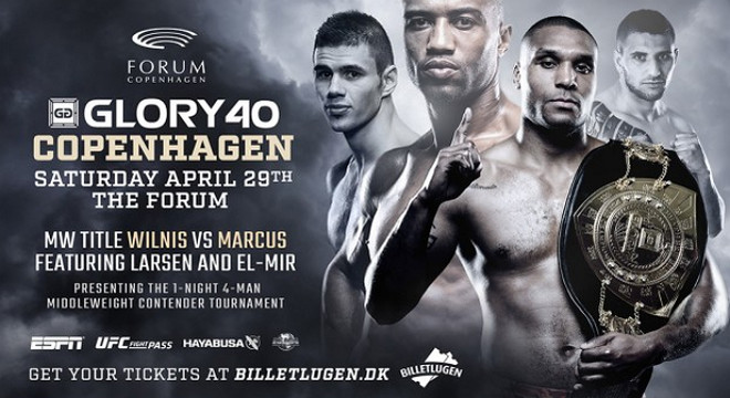GLORY 40 Copenhagen fight card состав пар